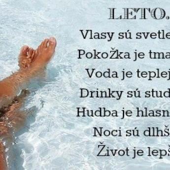 V lete je život lepší :)