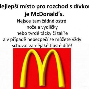 Ideálne miesto na rozchod – McDonalds