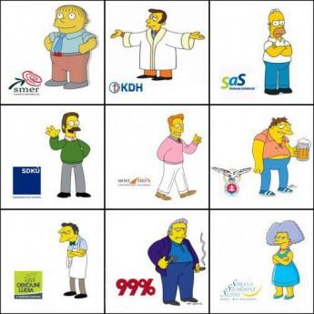 Slovenský parlament vs. Simpsonovci