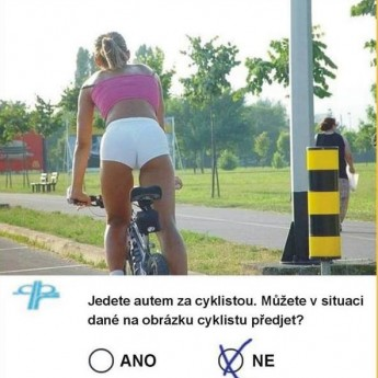 Pekná cyklistka :)