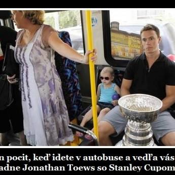 Ten pocit, keď ideš v buse so Stanley Cupom