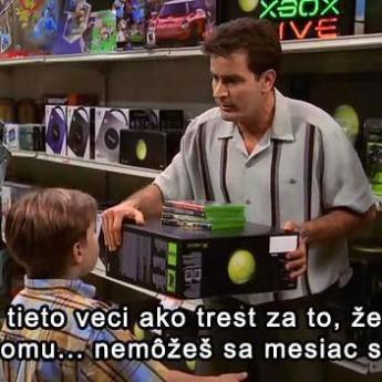 Charlie kupuje hračky Jakeovi