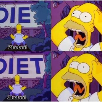 Homer a diéta
