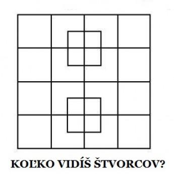 Koľko vidíš štvorcov?