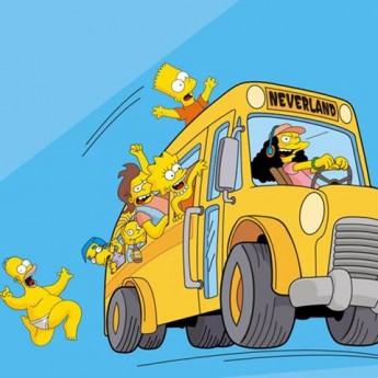 Homer naháňa autobus