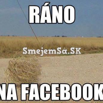 Ráno na FB