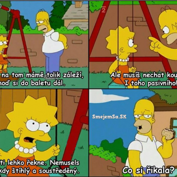 Štíhly a sústredený Homer