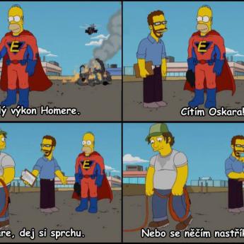 Homer cíti Oskara