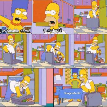 Homer vyhodený z domu
