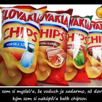 Vzduch vs. chipsy