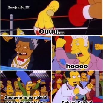 Homer v ringu