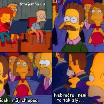 Flanders plače od dojatia