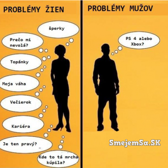 Problémy žien vs. problémy mužov