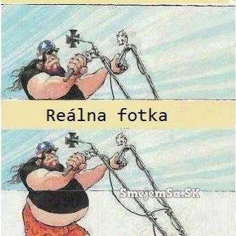 Reálna fotka vs. fotka na FB