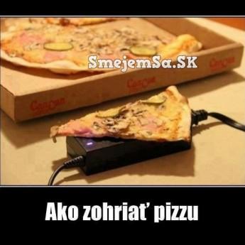 Ako zohriať pizzu