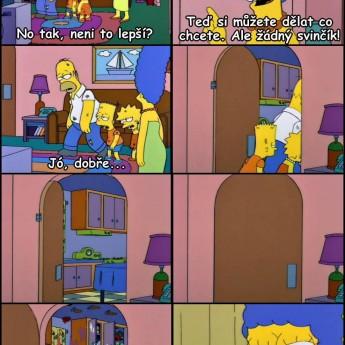 Upratovanie u Simpsonovcov
