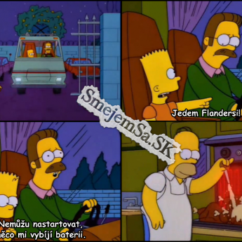 Homer si griluje v karavane