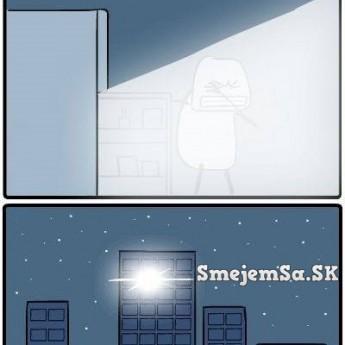 Chladnička v noci