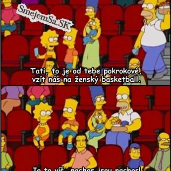 Homer zobral rodinku na basketbal