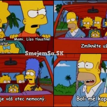 Homer je vážne chorý