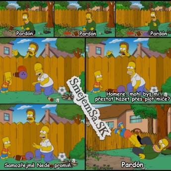 Homer s Bartom provokujú Neda