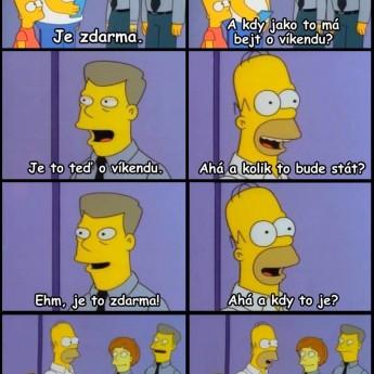 Homer a pobyt zdarma