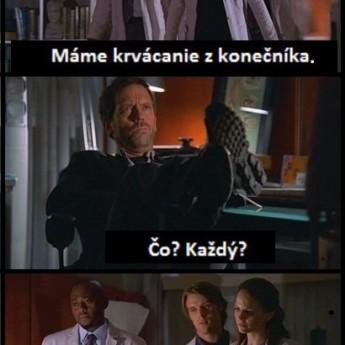 Dr. House a krvácanie z konečníka