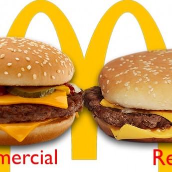 McDonald's pochúťky v reklame a v realite