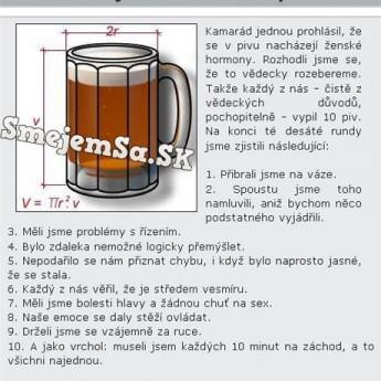 Pivo obsahuje ženské hormóny