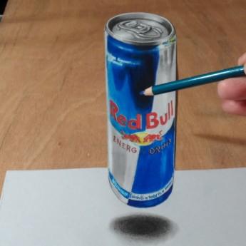 Ako nakresliť levitujúci Red Bull