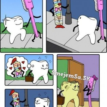 Párik – kefka a zub
