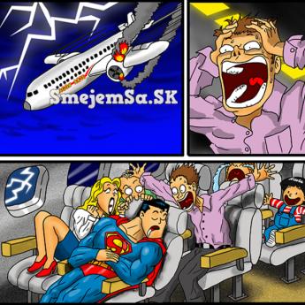 Padajúce lietadlo so supermanom