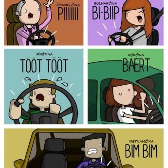Trúbenie v rôznych jazykoch