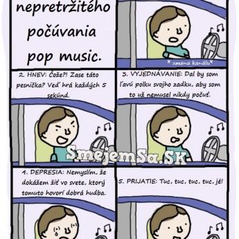 5 fáz nepretržitého počúvania pop music