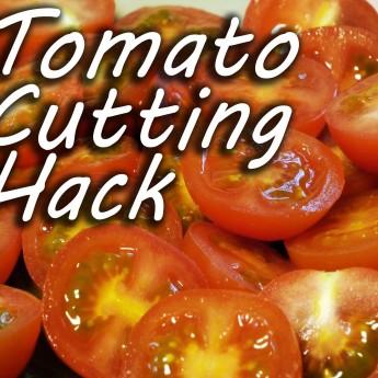 Ako efektívne nakrájať cherry paradajky