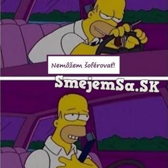 Opitý Homer za volantom