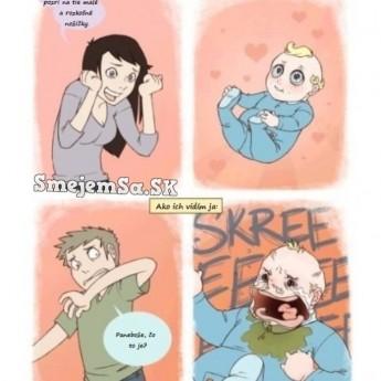 Ako vidia ľudia bábätká