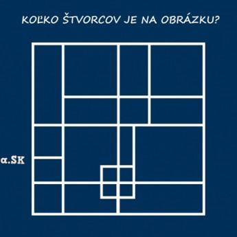Koľko štvorcov je na obrázku?