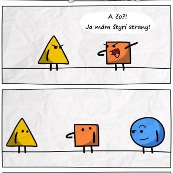 Boj medzi trojuholníkom a štvorcom