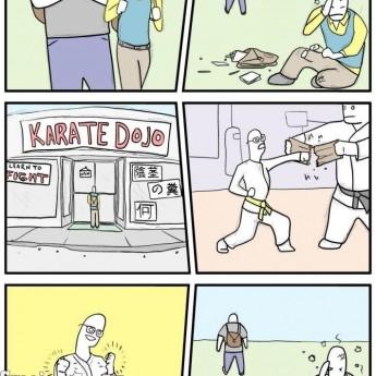 Keď ani karate nepomáha…