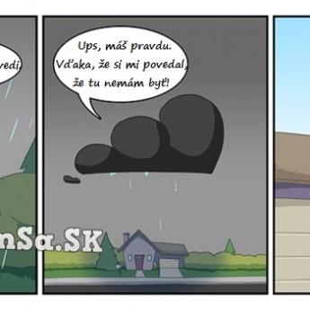 Dážď, ktorý nebol v predpovedi