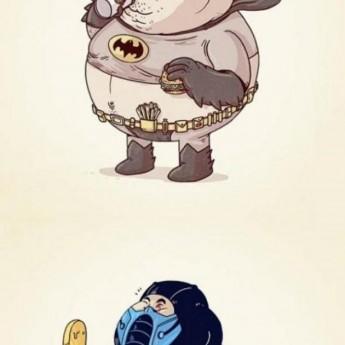 Tuční superhrdinovia a iné známe postavičky
