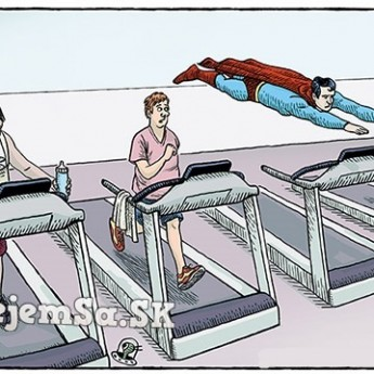 Superman vo fitku