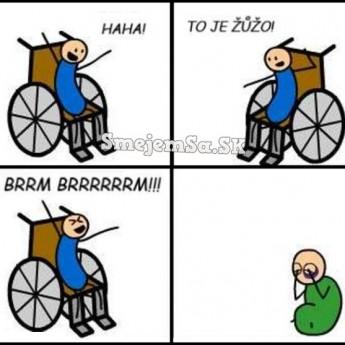 na vozíku