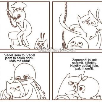 Mačka záchrankyňa