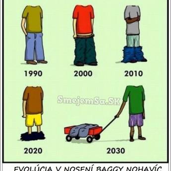 Evolúcia v nosení nohavíc