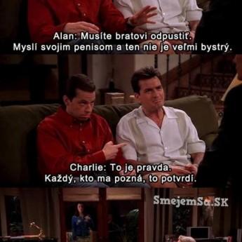 Charlie rozmýšľa penisom