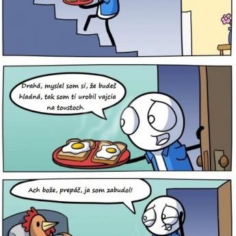 Vajcia na toustoch