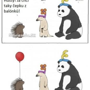 Balónová čiapka