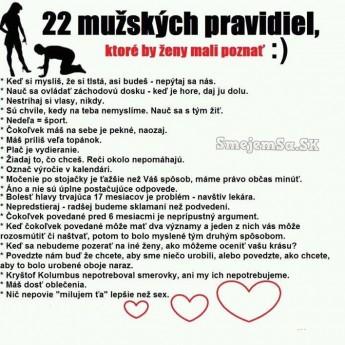 22 mužských pravidiel